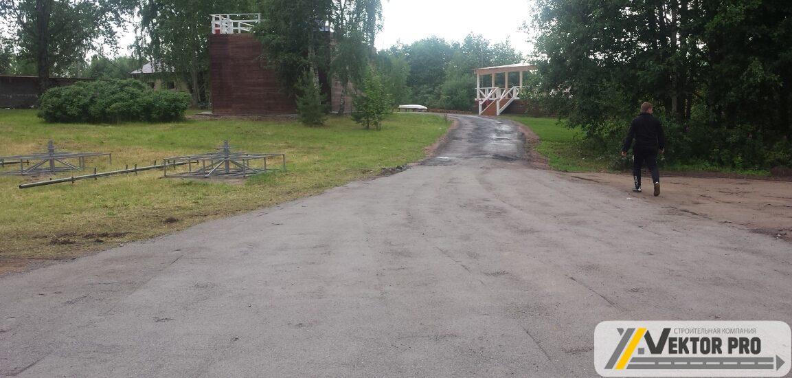 Загородное возведение дороги